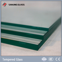 6mm Kitchen cabinet tempered glass