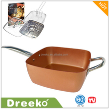 Dreeko 4 piece Non-stick Square Chef Frying Pan as Seen on TV