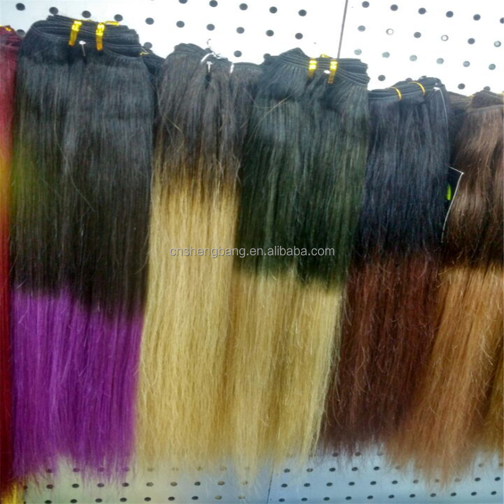 Remy Hair Two Tone brazilian Ombre blonde Colored Hair Weave Bundles
