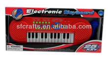 2014 25 keys muti-function electronic keyboard with microphone
