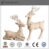 decorative xmas resin deer