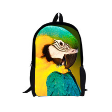 Wholesales 3D Animal Parrot New Oxford Kids Latest School Bags for Girls