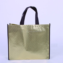Promotional metallic non-woven bags high quality low price and famous brand non woven bag