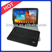 Factory Price Bluetooth Keyboard with Leater Case for Samsung Galaxy Tab 10.1