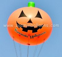 Advertising pvc helium balloon pumpkin shape for halloween decoration N1043