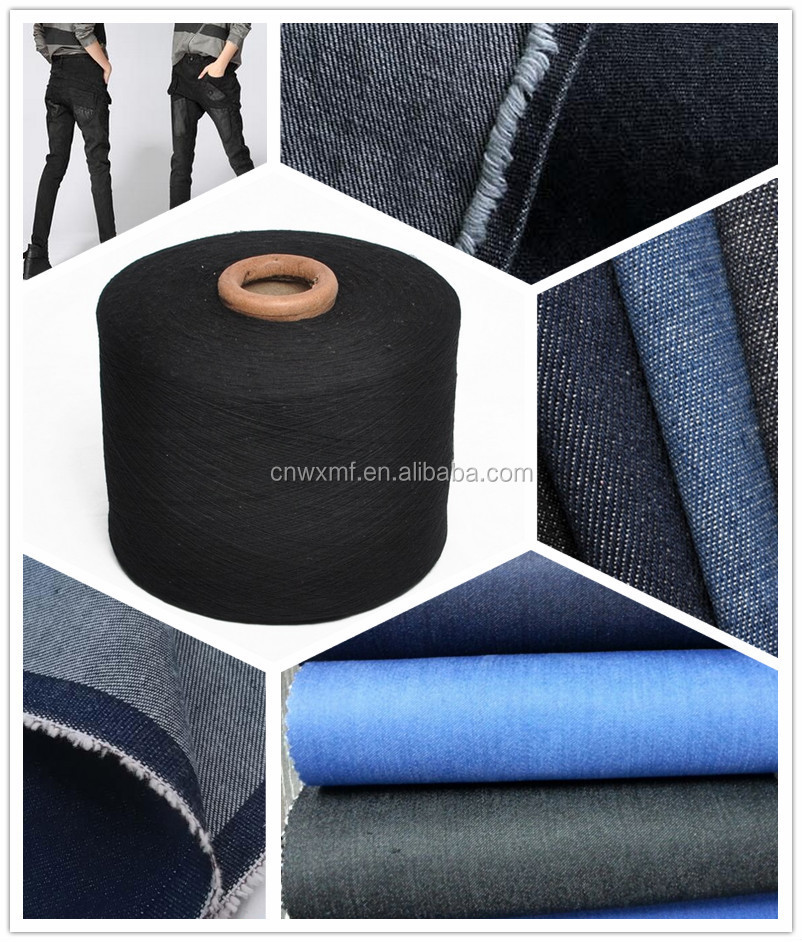 Open end recycled yarn for Black Jeans, cotton yarn for denim weaving