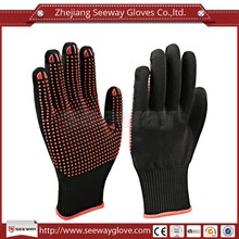 Seeway Black Double Dipped PVC Gloves