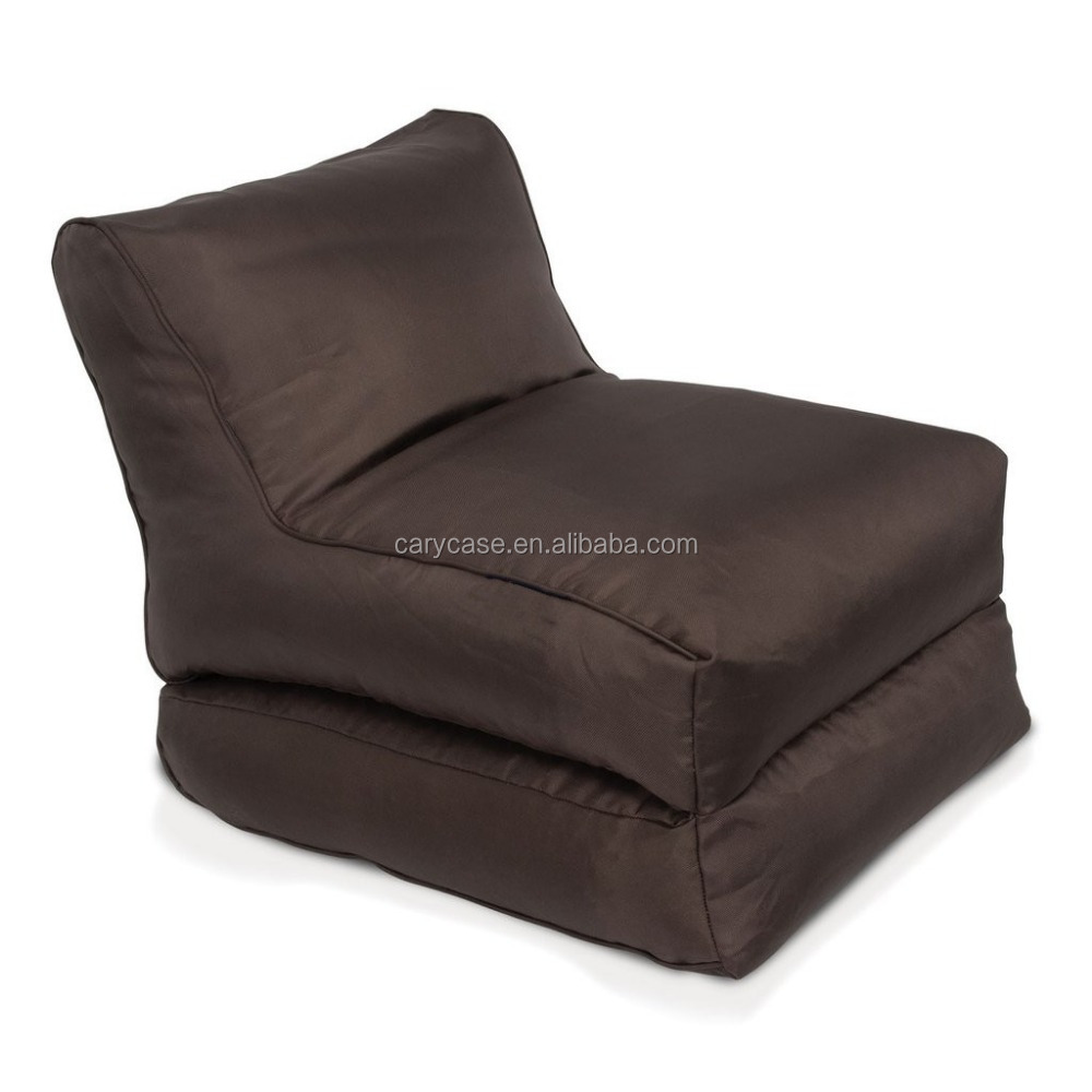 Rich, stylish and decadent deep chocolate bean-filled sofa, outdoor beanbag chairs