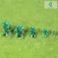 Layout Model Train artificial Coconut Palm Trees Rain Forest Scale HO 1:50-1:200
