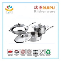 chinese style Stain polished stainless steel first horse cookware set,carl weill cookware set,bella cookware