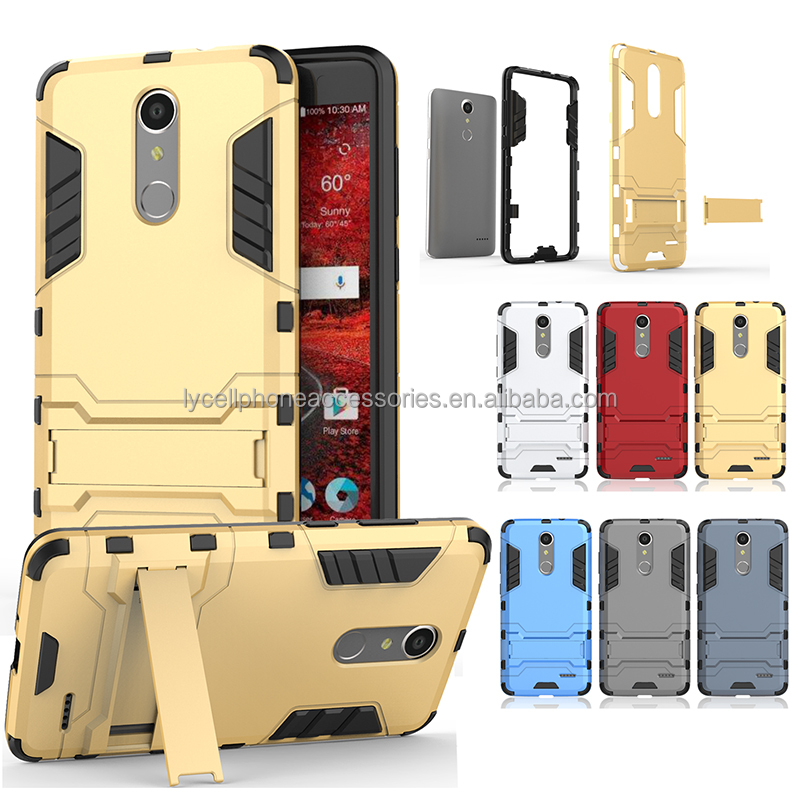 Kickstand Hard Plastic PC TPU Soft Hybrid Shockproof Heavy Duty Protective Holster Case For ZTE Grand X4/Z956 KC1