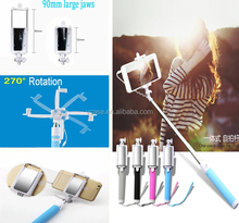 Multi Function Bluetooth Selfie Stick with mirror All in One Monopod Tripod Zoom Remote for camera and mobile phone