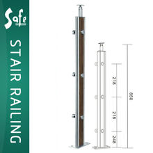 Elegant Stainless Steel wooden/wood post/baluster for handrail/railing