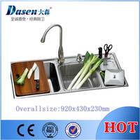 Buy Above Counter Enamel Cast Iron Kitchen Sink with Apron Front ...