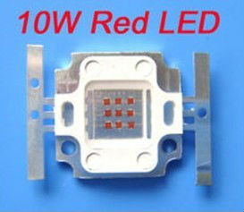 shenzhen grow led chips factory red 660nm 630nm high power led lamp 12v 10w