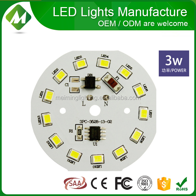 Ideal led plate lamp light resource aluminum pcb board AC 180-240v directly round led module with no external driver