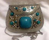 2015 Ethnic Vintage Metal Elegant metal frame evening clutch Pouch bag wholesale
