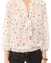 2013 latest design Printed Floral Blouse HSB047
