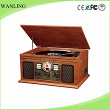 Wholesale 3-speed nostalgic vinyl record player,turntable CD record cassette radio player