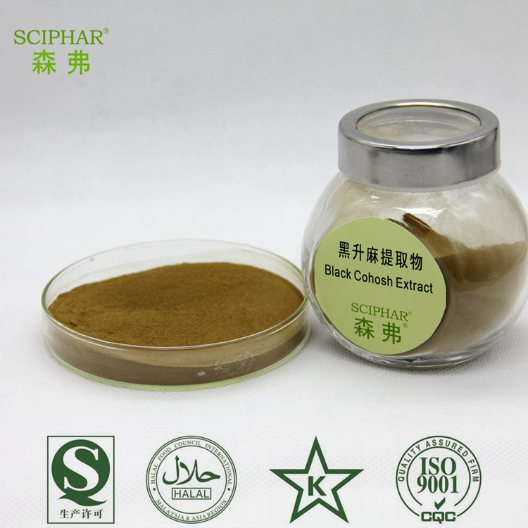 100% pure natural Black Cohosh Extract powder 2.5%Triterpene Glycosides test by HPLC