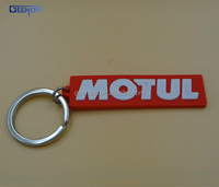 soft pvc promotional keychain with letters