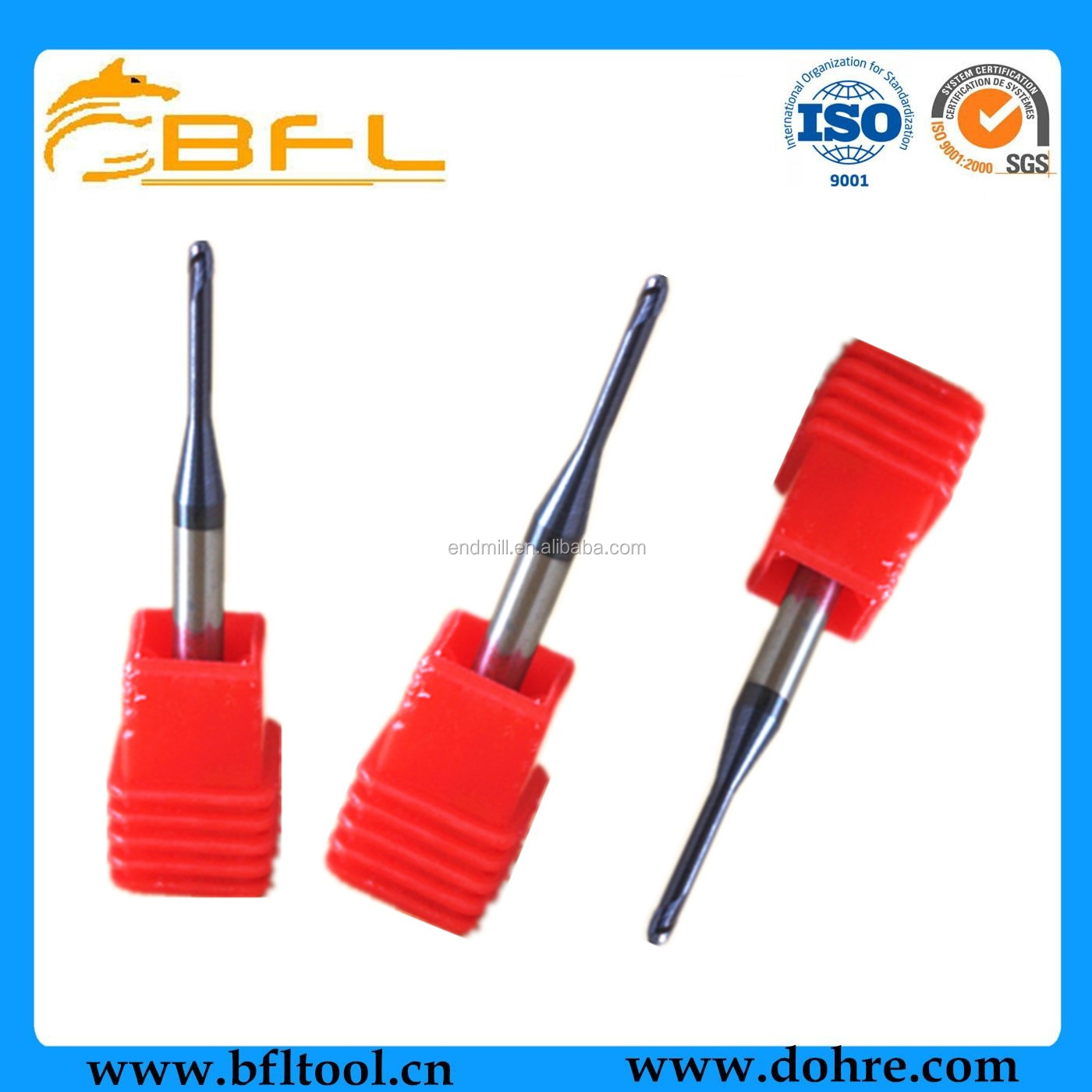 Micro Diameter Coated Ball Nose End Mill/CNC Ball Nose Cutting Tool/Carbide Ball Nose End Milling Cutter