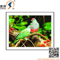 UV offset printing 3d Lenticular Paintings ,3d pictures of birds
