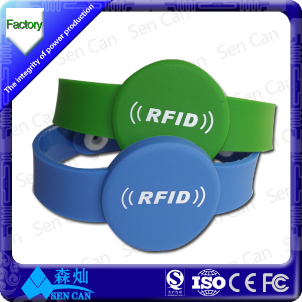 SPV RFID pulsera,rfid wristband for swimming pool ,water park RFID Wrist band