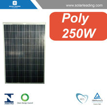 High efficiency 250W 30V solar panel manufacturer connect to solar inverter 380v for on grid solar home system