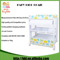 Foldable Plastic Baby Changer Table/ Portable Baby Changing Table With Bath