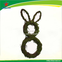 easter rattan bunny decorations