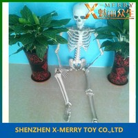 X-MERRY Lifesize Joints Hold Position Halloween Prop soft latex material Skeleton 60 inches tall, pose or stay