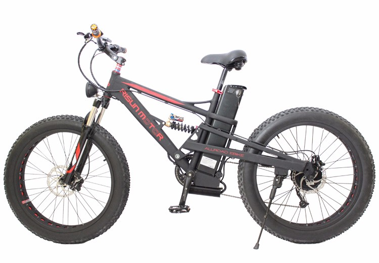 RisunMotor Mustang Dual Suspension 48V 750W 8Fun Motor Fat Electric Bike Bicycle 20.3AH Lithium ebike Battery