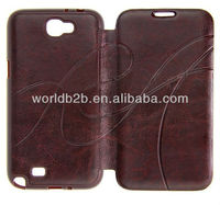 2013 NEW Leather Cover Case for HTC One M7 with High Quality, Classic Design