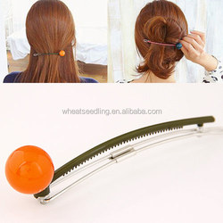 hot popular accessories round ball wholesale flat bobby pin flexible hair clip