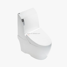 2017 elongated warm water rear cleaning smart toilet with self cleaning nozzle
