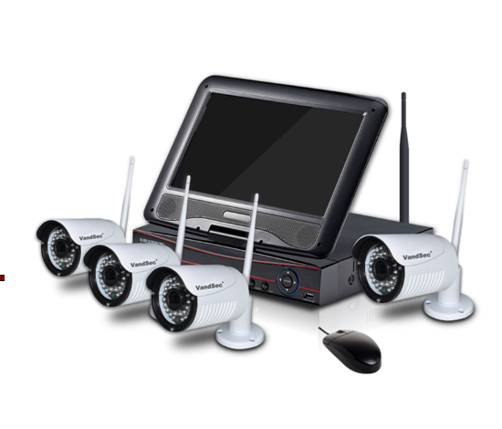 10'' Monitor inch HD LCD screen 4ch 8ch home <strong>security</strong> camera nvr system <strong>security</strong> 2.4g wireless camera kit
