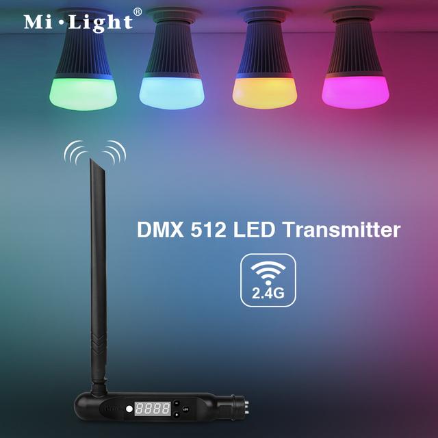Mi.Light 8W E27/E26/B22 DMX512 console control RGB+ww+cw led light bulb,DMX control color changing with warm white cold white