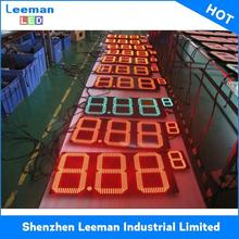 for petrol station with double sided pole sign LEEMAN DISPLAY big led digital clock race timer