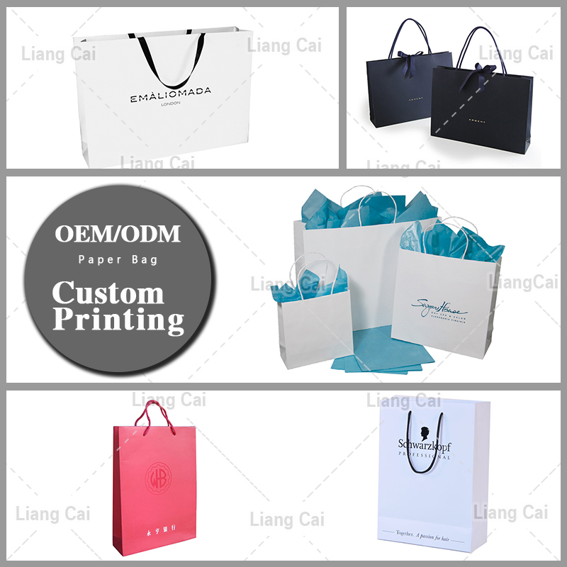 Cheap colorful luxury custom paper bag good promotion shopping kraft paper bag with handle