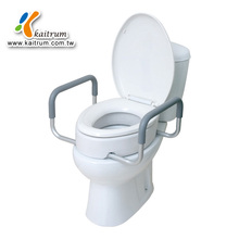 Bathroom Commode Care Elder Disable Raised Toilet Seat with Handles
