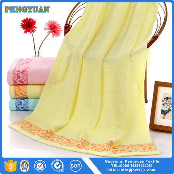 Wholesale Good Quality 100% Cotton Luxury Home Trend Bath Towels