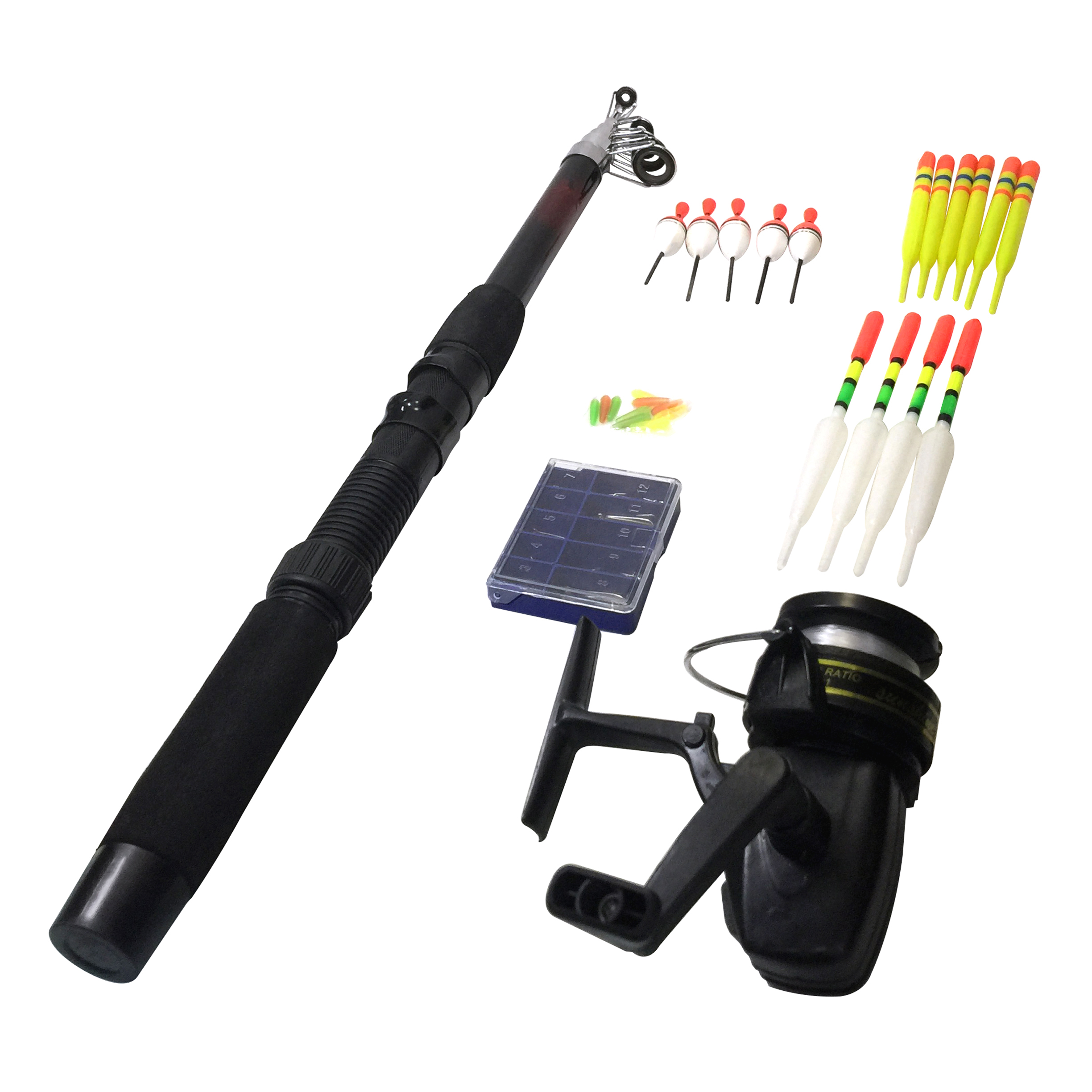 Cheap new Spinning Telescopic <strong>Fishing</strong> Rod and reel Combo Kit Set with <strong>Fishing</strong> floats and hooks <strong>fishing</strong> combo blister package