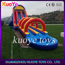 inflatable water slide with blower double lane slip slide residential pool slides