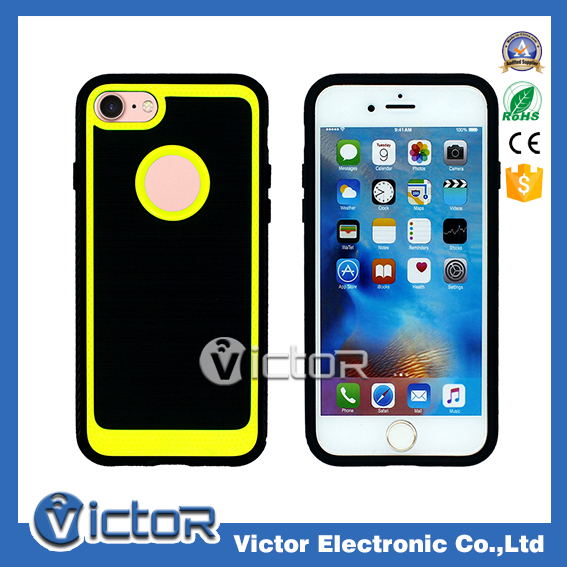 New phone accessories brushed assorted bright color cell case for iPhone 7