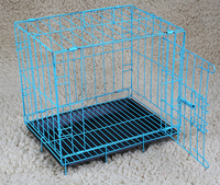 2017 wholesale metal iron wire pet dog cage foldable dog kennel small animal transport cage