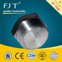 Stainless steel fittings npt threaded male round plug