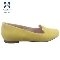 2015 latest fashion flat leather shoes for women