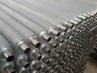 Steel, stainless steel ,or copper composited aluminum spiral finned tube