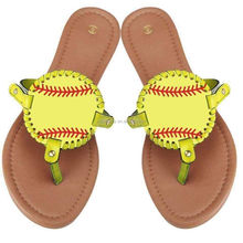 Flat PU Leather Lady Sandal, Sports Sandal,Baseball Sandal
